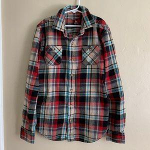 Arizona Jeans Flannel Button Up Shirt, L(14/16)